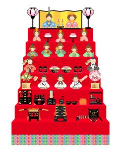 雛人形 十五人飾り イラストのイラスト素材 [FYI04786027]
