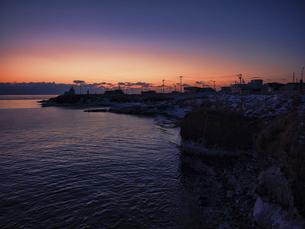 早朝の納沙布岬の写真素材 [FYI04786225]