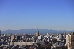 東京都心から中目黒の向こうに見える富士山の写真素材 [FYI04786321]