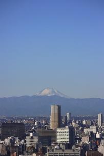 東京都心から中目黒の向こうに見える富士山の写真素材 [FYI04786336]