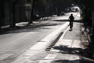 サンパウロ市の朝の市街風景の写真素材 [FYI04786407]