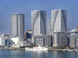 東京都 晴海埠頭の高層マンション群の写真素材 [FYI04786656]
