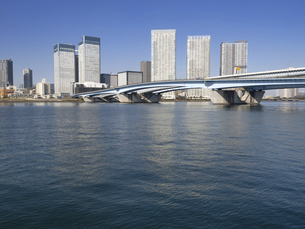 東京港と晴海大橋の写真素材 [FYI04786663]