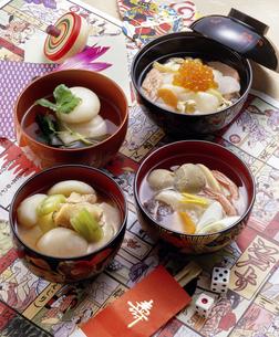 雑煮四種 正月料理の写真素材 [FYI04786761]