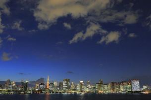 東京都心の夜景パノラマの写真素材 [FYI04786866]