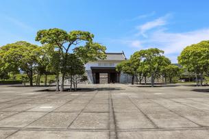 赤穂城の本丸と青空の写真素材 [FYI04786960]