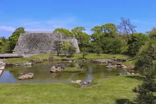 赤穂城の本丸庭園の写真素材 [FYI04786961]