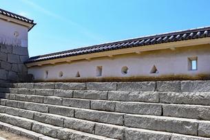 城壁の内側の雁木の写真素材 [FYI04786973]