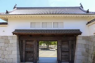 赤穂城・本丸の櫓門の写真素材 [FYI04786974]