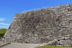 城跡に残る天守台の石垣の写真素材 [FYI04786977]