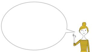 OKサインをする若い女性 ふきだしのイラスト素材 [FYI04787582]