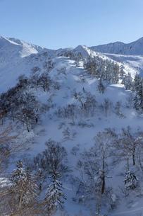 北海道 十勝岳連峰の冬の風景の写真素材 [FYI04787673]