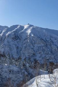 北海道 十勝岳連峰の冬の風景の写真素材 [FYI04787679]