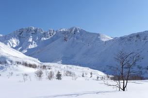 北海道 十勝岳連峰の冬の風景の写真素材 [FYI04787698]