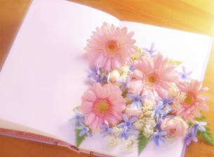 本の上の花の写真素材 [FYI04787756]