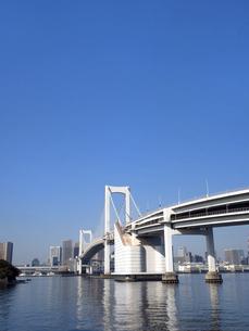 レインボーブリッジと東京港の写真素材 [FYI04788165]