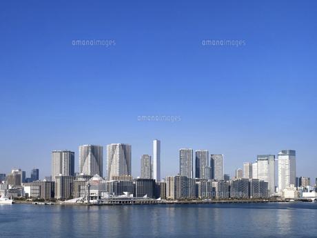 東京都 晴海客船ターミナルと高層マンション街の写真素材 [FYI04788216]