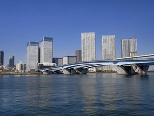 東京港と晴海大橋の写真素材 [FYI04788222]