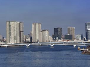 豊洲大橋 東京都の写真素材 [FYI04788245]