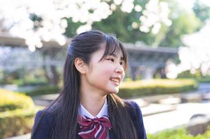 笑顔の女子学生の写真素材 [FYI04788933]