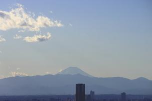 東京都心から中目黒の向こうに見える富士山の写真素材 [FYI04788978]
