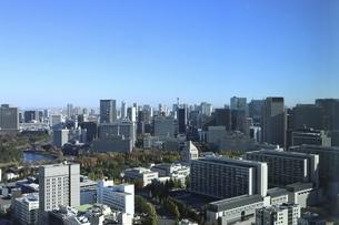 東京紀尾井町から見える国会議事堂方面の高層ビル群の写真素材 [FYI04788998]