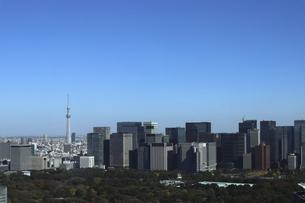 東京紀尾井町から見える丸の内方面の高層ビル群の写真素材 [FYI04789000]