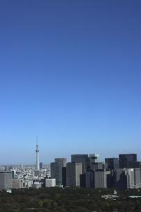 東京紀尾井町から見える丸の内方面の高層ビル群の写真素材 [FYI04789002]