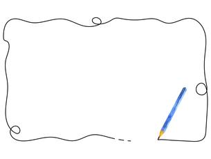 水彩の鉛筆のフレームのイラスト素材 [FYI04789750]