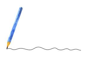 水彩の鉛筆と線のイラストのイラスト素材 [FYI04789753]