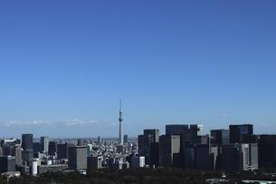 東京紀尾井町から見える丸の内方面の高層ビル群の写真素材 [FYI04789945]