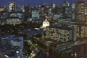 東京紀尾井町から見える国会議事堂方面の高層ビル群の写真素材 [FYI04789953]