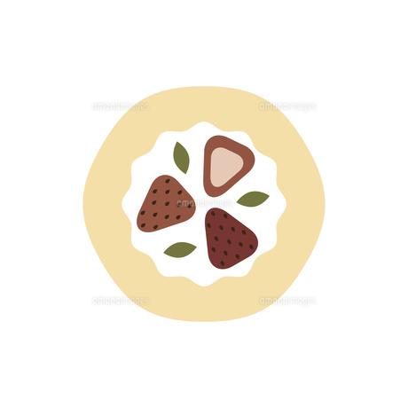 苺のロールケーキ イラストのイラスト素材 [FYI04790126]