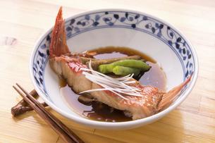 金目鯛の煮付けの写真素材 [FYI04790199]