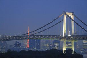 レインボーブリッジの夜景の写真素材 [FYI04790995]