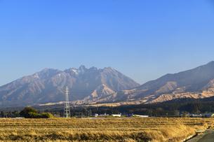 阿蘇山 美しい雪景色 阿蘇五岳(根子岳・高岳・中岳・烏帽子岳・杵島岳)2021年冬の写真素材 [FYI04791014]