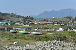 春の信州路の写真素材 [FYI04791189]