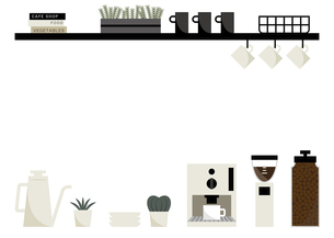 カフェ インテリア フレームのイラスト素材 [FYI04791570]