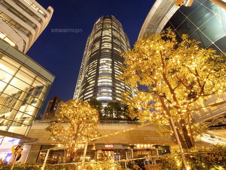 夕暮れの六本木ヒルズ 東京都 の写真素材 [FYI04791675]