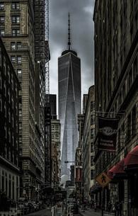 ニューヨーク・ロウアーマンハッタンの街並みの写真素材 [FYI04792184]