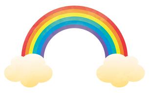 虹と雲のイラスト素材 [FYI04792225]