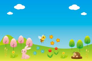 春の風景のイラスト素材 [FYI04792239]