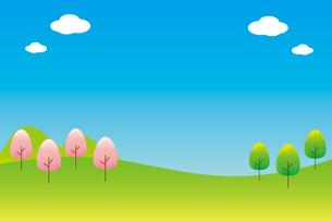 春の風景のイラスト素材 [FYI04792242]