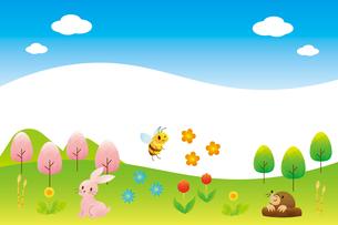 春の風景のイラスト素材 [FYI04792244]