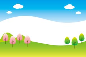 春の風景のイラスト素材 [FYI04792245]