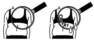 肥満の女性の背中-クローズアップ-黒のイラスト素材 [FYI04792439]