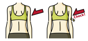 女性の背中-チェックのイラスト素材 [FYI04792441]