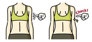 女性の背中-チェックのイラスト素材 [FYI04792447]
