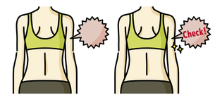 女性の背中-チェックのイラスト素材 [FYI04792453]