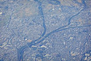 空から平塚大橋あたりを空撮の写真素材 [FYI04792474]